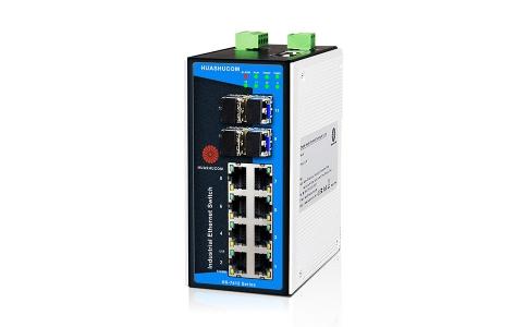 12口(8+4)全千兆导轨式网管型工业交换机