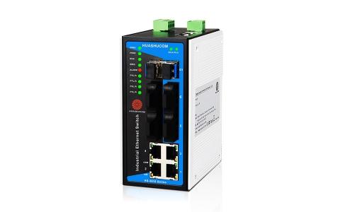 10口(4TX+4SC+2GSFP)千兆导轨式非网管型工业交换机