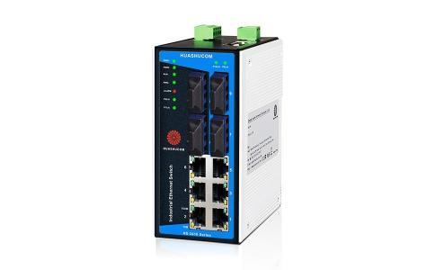 10口(6+4)百兆导轨式网管型工业交换机