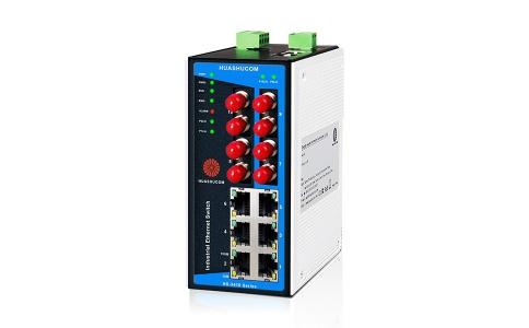 6口导轨式非网管型长距离工业交换机