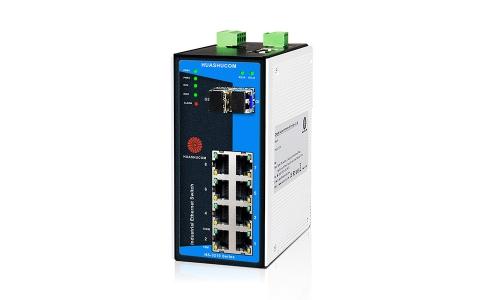 10口(8+2)千兆导轨式非网管型工业交换机