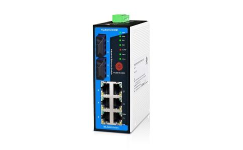 华枢通信8口(4+4)网管型工业交换机