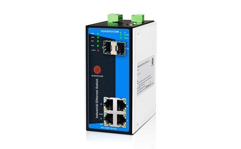 6口(4+2)百兆导轨式网管型工业交换机