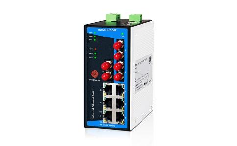 9口(6+3)百兆导轨式非网管型工业交换机